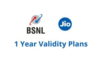One Year Validity Recharge Plans From BSNL and Jio